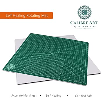 Amazon.com: Calibre Art Self Healing Rotating Cutting Mat, Perfect ... : quilting cutting mat - Adamdwight.com