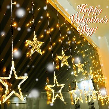Amazon.com: Led String Lights, Quntis Star Curtain Lights Indoor ...