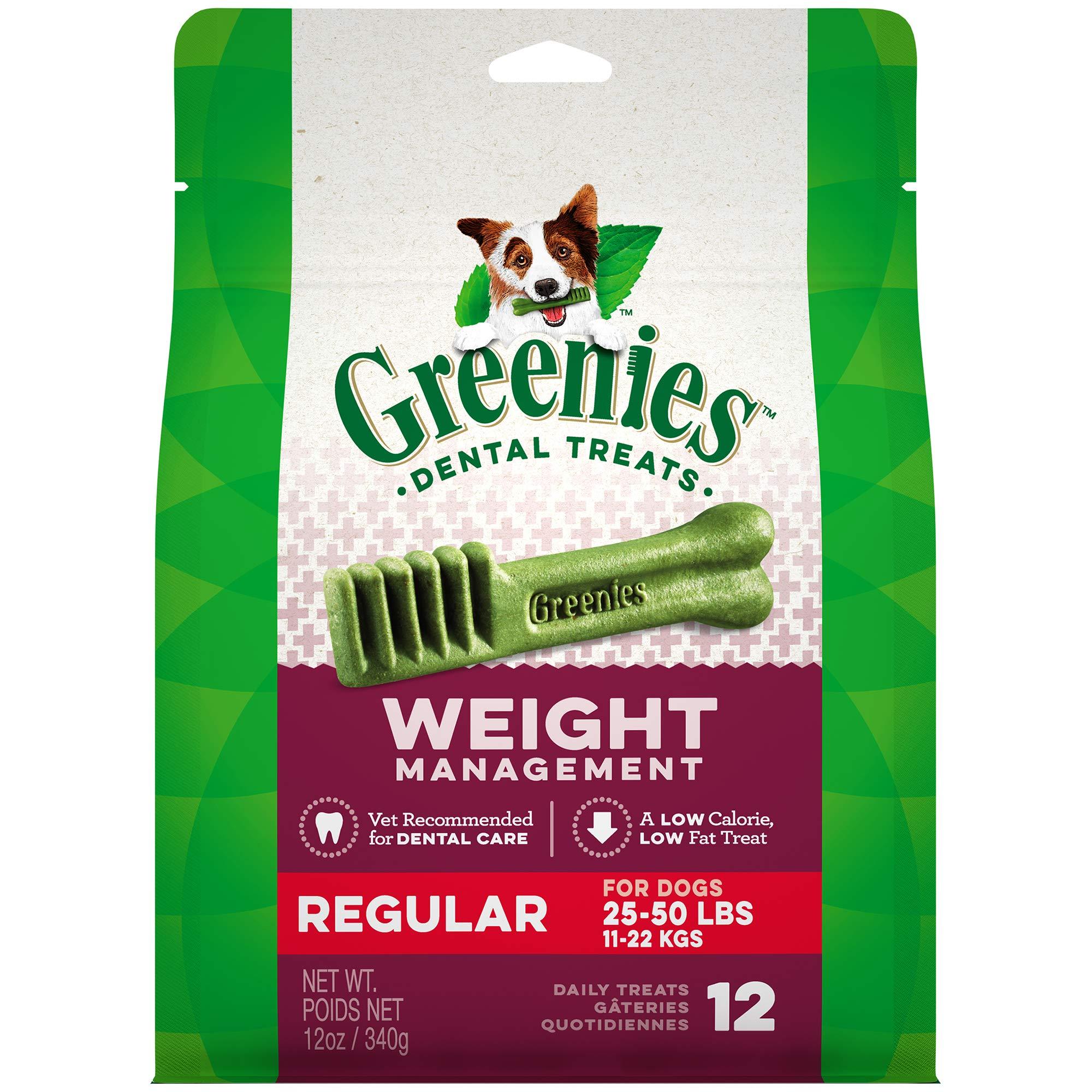 Greenies Weight Management Regular Size Dental Dog Chews - 12 Ounces 12 Treats by Greenies (Image #12)