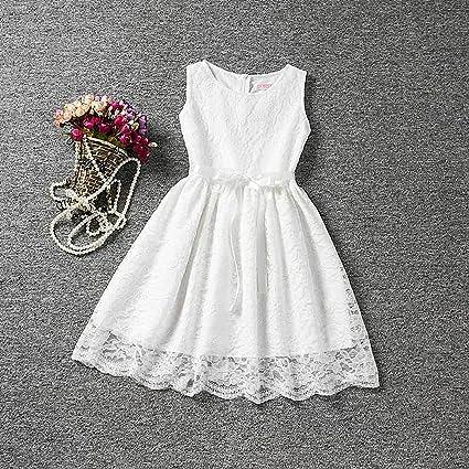 Morbuy Ropa de niñas, Encaje Hueco Vestidos de Fiesta de Princesa Super Lindo Diseñador de