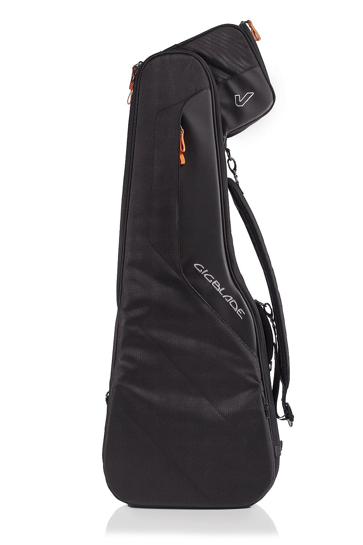 Gruv Gear Gruv Gear GigBlade 2 Side-Carry Hybrid Guitar Gig Bag for Electric Guitar, Black GIGBLADE2-EG-BLK