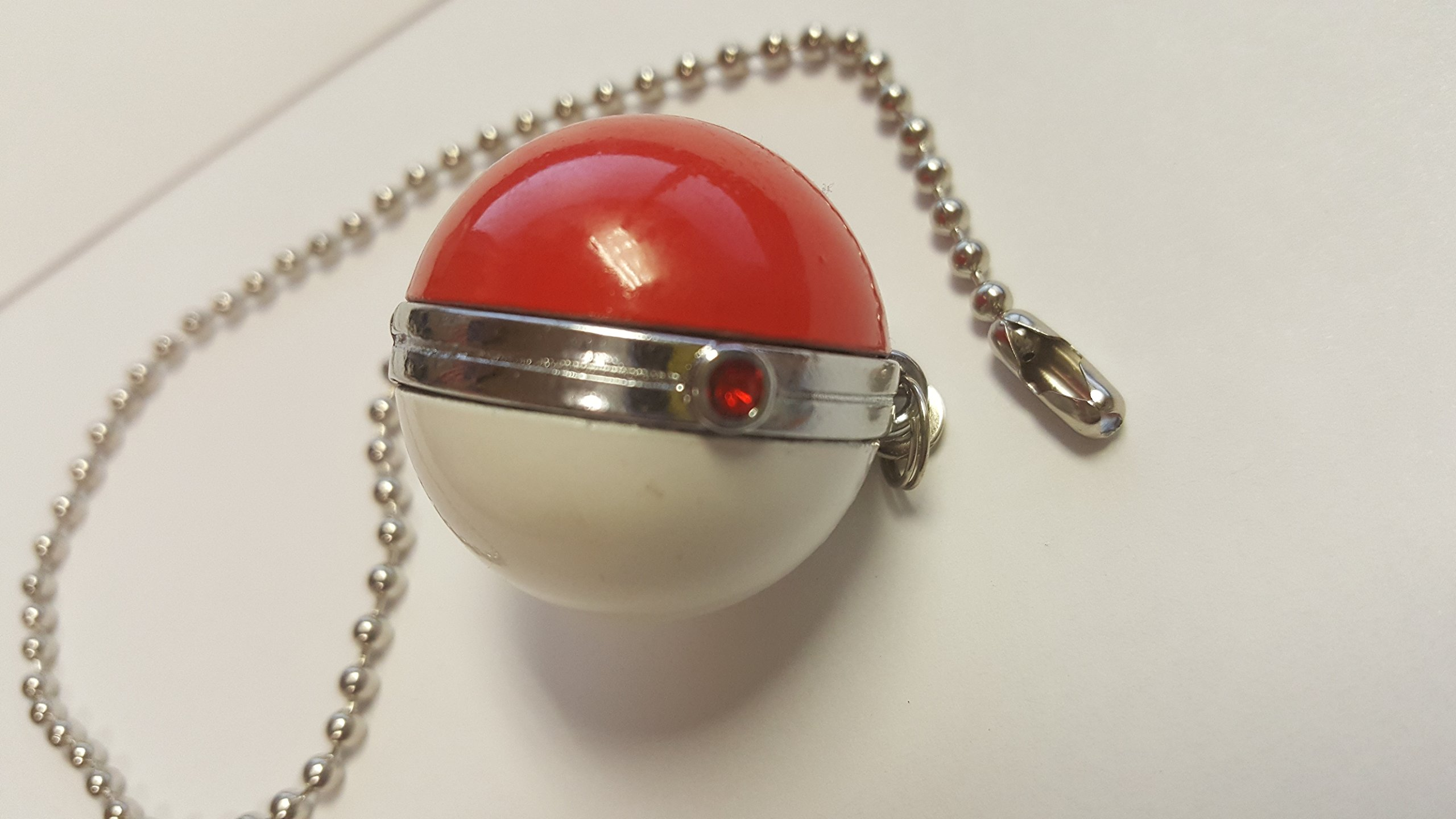Pokemon PokeBall Ceiling Fan Beaded Pull Chain Red and White with Jewel GO Poke Ball
