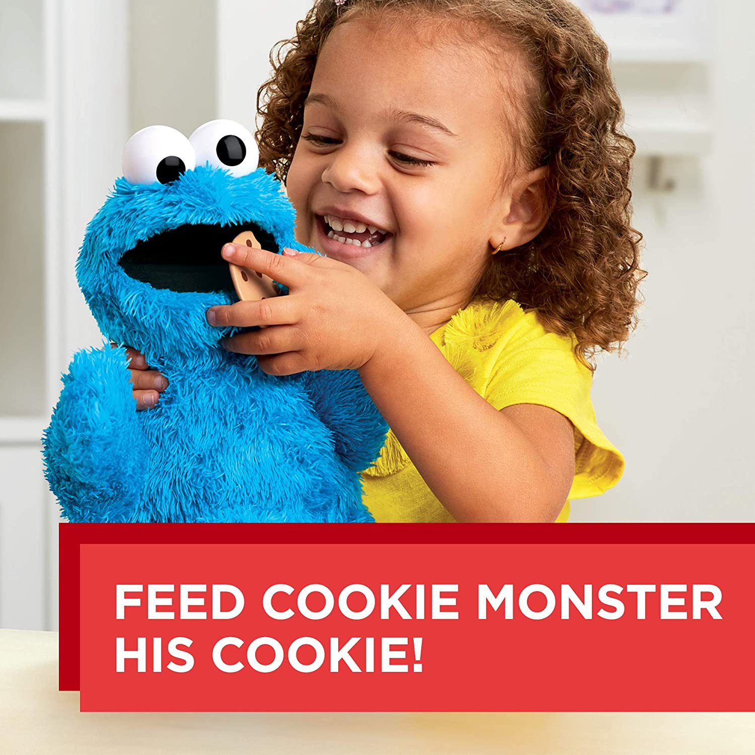 Sesame Street Feed Me Cookie Monster Plush Interactive 13 Inch Cookie Monster Says Silly Phrases Belly Laughs Sesame Street Toy For Kids 18 Months