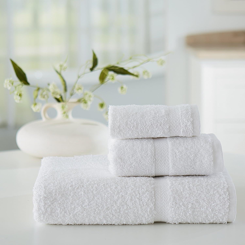 Amazoncom Welspun Usa Inc Welington Platinum Hotel 6 Piece Towel Set