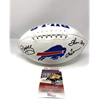$249 » Jim Kelly Thurman Thomas Andre Reed Buffalo Bills Triple Signed Autograph Embroidered Logo Football JSA Witnessed Certified