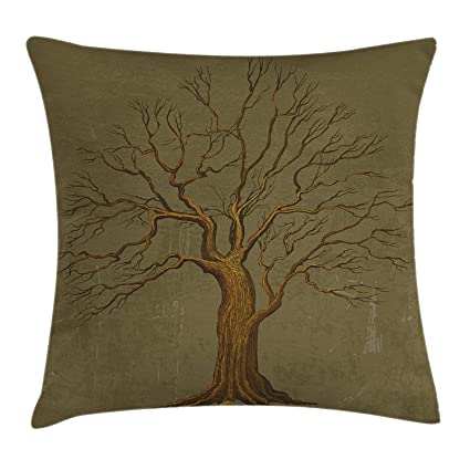 Wondrous Amazon Com Mjhan Tree Throw Pillow Cushion Cover Ibusinesslaw Wood Chair Design Ideas Ibusinesslaworg