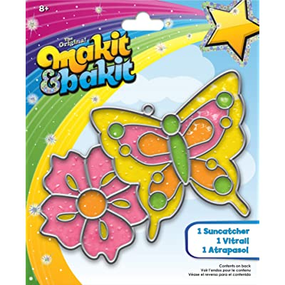 Colorbok Kit Butterfly Flower Makit Bakit Suncatcher: Arts, Crafts & Sewing
