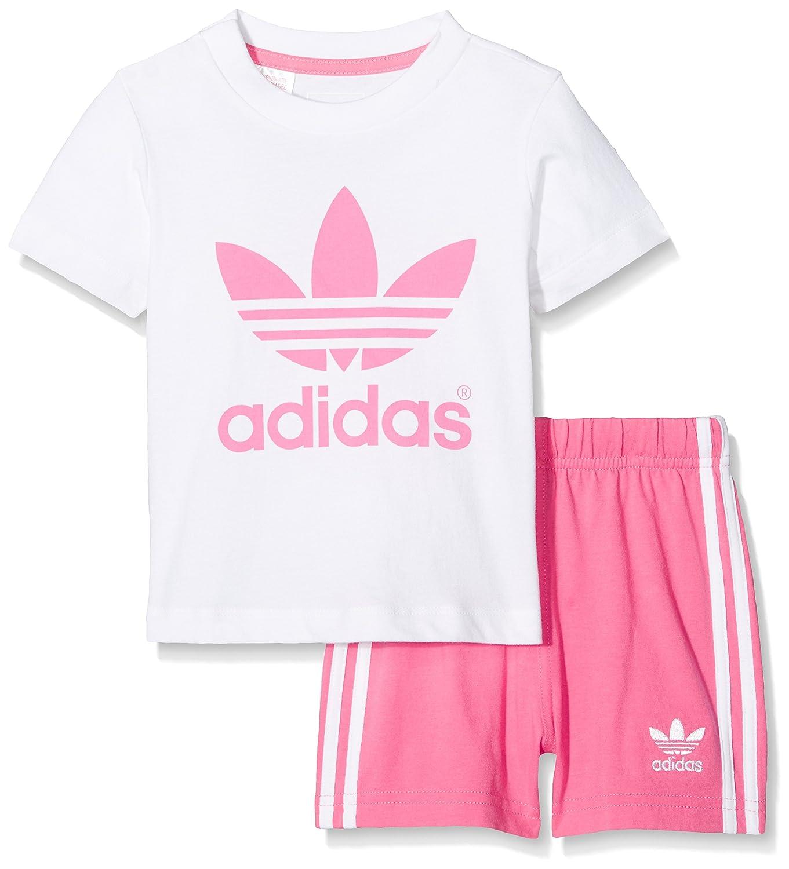 adidas I Tee Short Set Baby bambina Originals Firebird T-Shirt Corto Bianco/Rosa adidas Originals