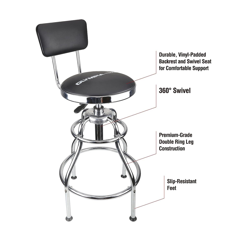 Fine Olympia Tools 82 738 Adjustable Hydraulic Stool Black Machost Co Dining Chair Design Ideas Machostcouk