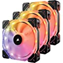 3-Pack Corsair HD120 RGB LED High Performance PWM Fan with Controller