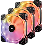 Corsair HD Series, HD120 RGB LED, 120mm High Performance RGB LED PWM three fans with controller