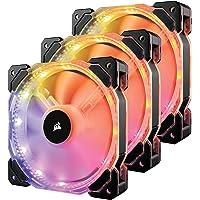 Kit 3x Cooler Fan 120 mm PWM HD120 LED RGB + Controladora, Corsair, 3X HD120 RGB + Controladora