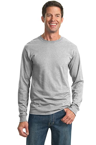 70200ba8b1e Amazon.com  Jerzees 5.6 oz. 50 50 Heavyweight Blend Long-Sleeve T ...