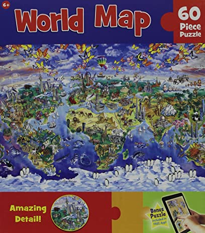 Amazon masterpieces world map jigsaw puzzle 60 piece toys games masterpieces world map jigsaw puzzle 60 piece gumiabroncs Images