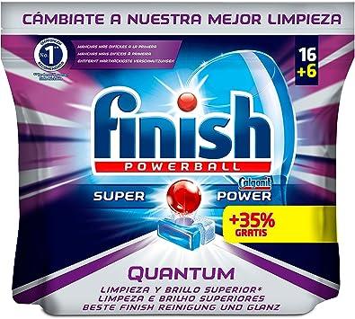 Finish Quantum Regular Pastillas para Lavavajillas - 16 + 6 ...