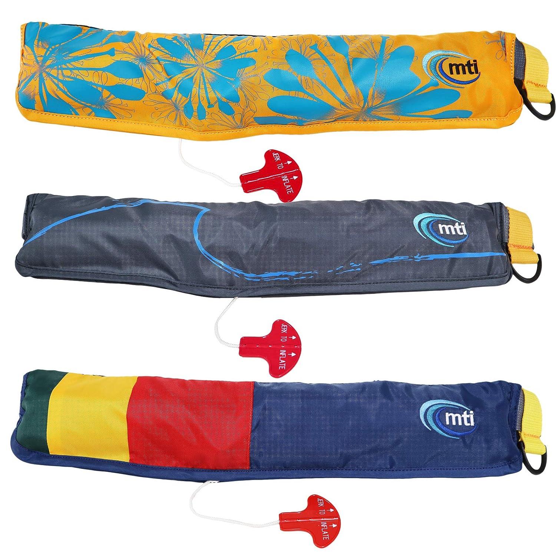 手動膨張式 ベルトパック(Belt Pack) ウエストベルトタイプ MTI-4015 mti スタンドアップパドル サーフィン(SUP) 釣り ダークグレー