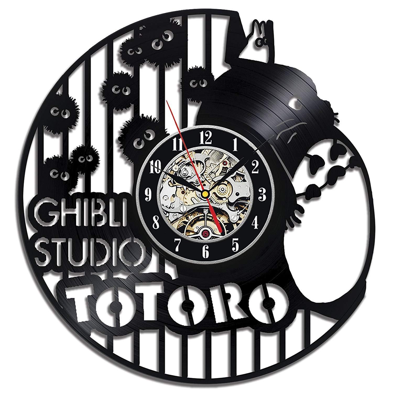 Ghibli Studio Handmade Anime Art Home Decor Vinyl Record Clock Room Design