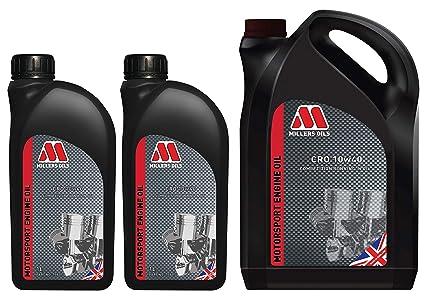 Millers Oil CRO 10W40 - Aceite Mineral para competición (7 L ...