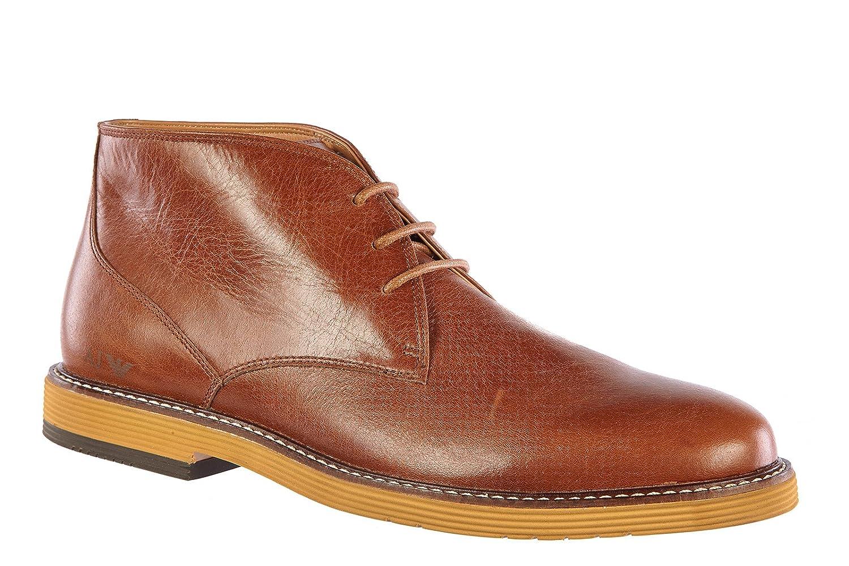 Armani Jeans Botines Zapatos por Hombre en Piel Vintage Metal Logo marrón EU 42 A6753 87 K7: Amazon.es: Zapatos y complementos