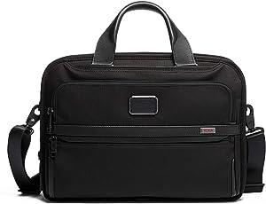 TUMI - Alpha 3 Triple Compartment Brief Briefcase - 15 Inch Computer Bag for Men and Women - Black