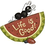 "Blossom Bucket ""Life Is Good Watermelon with Ant"" Decor"