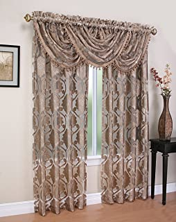 Sheer Scroll Waterfall Window Valance Lime Green 157923015555