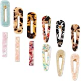 Acrylic Hair Clip Barrettes for Women (12 Pack)
