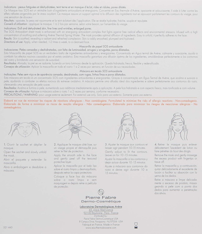 Amazon.com: Eau Thermale Avène A-oxitive Sos Antioxidant Sheet Mask, 5 ct.: Luxury Beauty