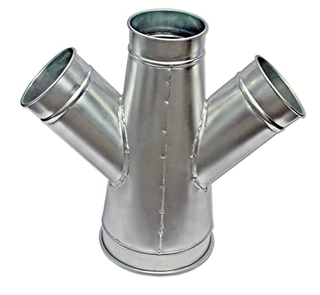 UU-Duct - Dust Collection Double Branch Fitting, 8 x 8 x 7 x