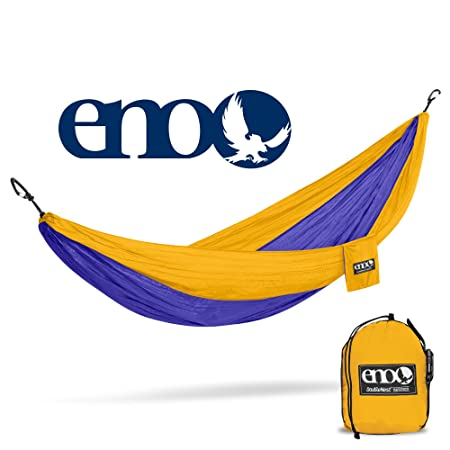ENO – Eagles Nest Outfitters DoubleNest Hammock, Portable Hammock for Two, Purple Marigold