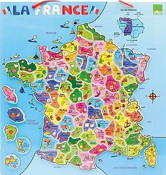 Vilac 2582 - Puzzle magnético (95 piezas), diseño de mapa de Francia , color/modelo surtido: Amazon.es: Juguetes y juegos