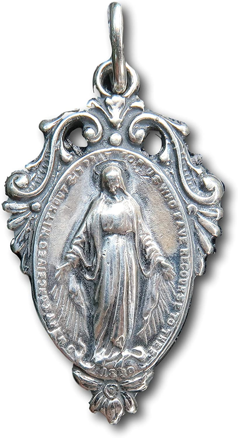 Miraculous Medal Virgin Mary Antique New San Diego Mall item Replica -