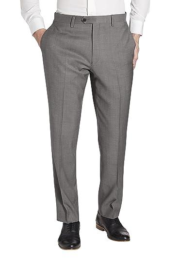 next Hombre Traje Lana Italiana: Pantalones Corte Slim EU 117 ...