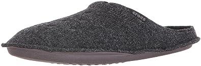 crocs Unisex Classic Slipper Mule, Black/Black, 8 US Men / 10 US Women
