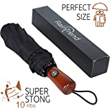 New Premium Umbrella Windproof - Large Umbrella Travel - Compact Umbrella Automatic - Travel Umbrella Folding - Portable Umbrella Auto - Oversized Umbrella Black Rain Umbrella - Mens Umbrella Compact