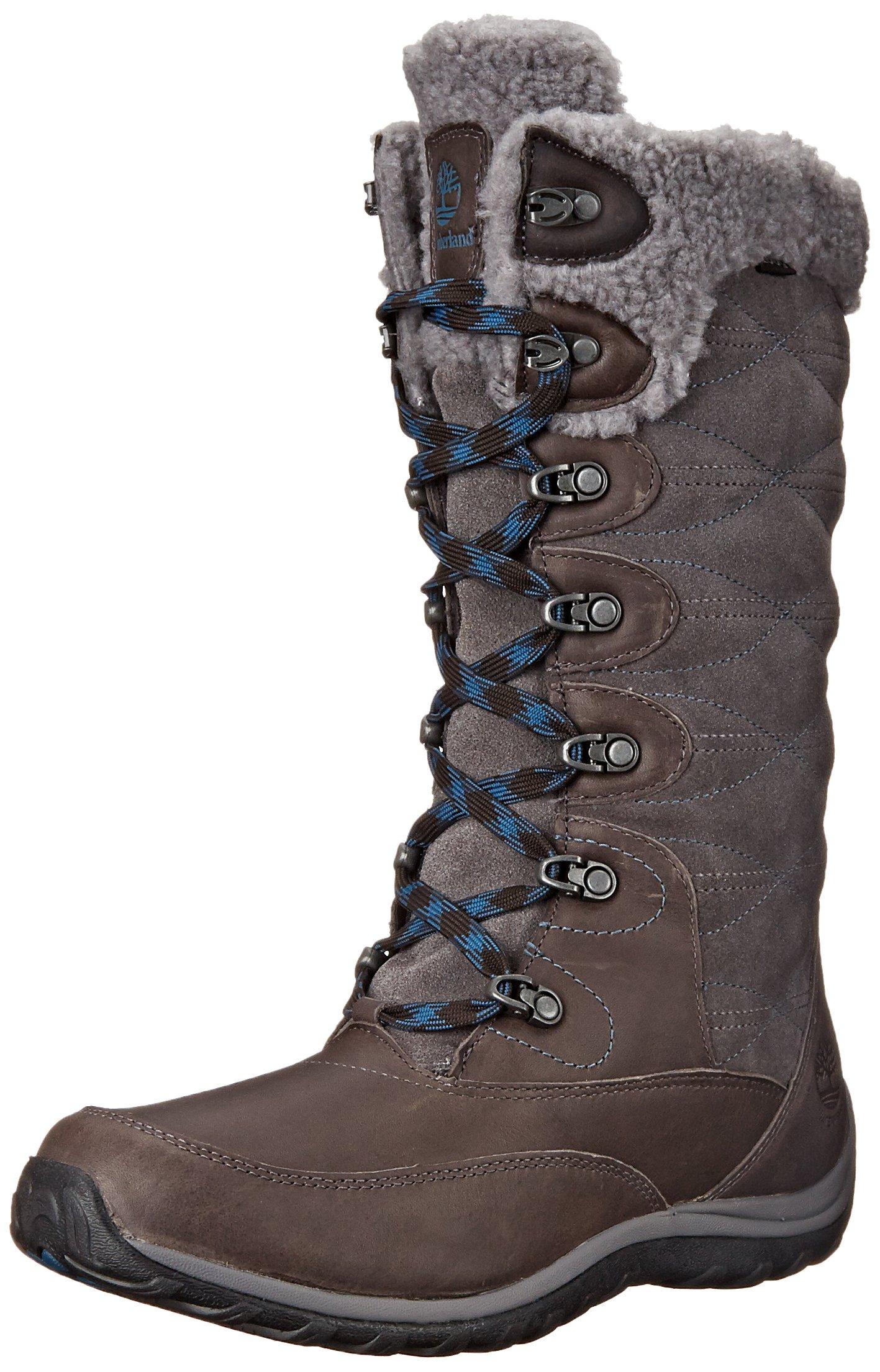 Timberland Women's Willowood WP Insulated Winter Boot, Dark Grey, 8 M US