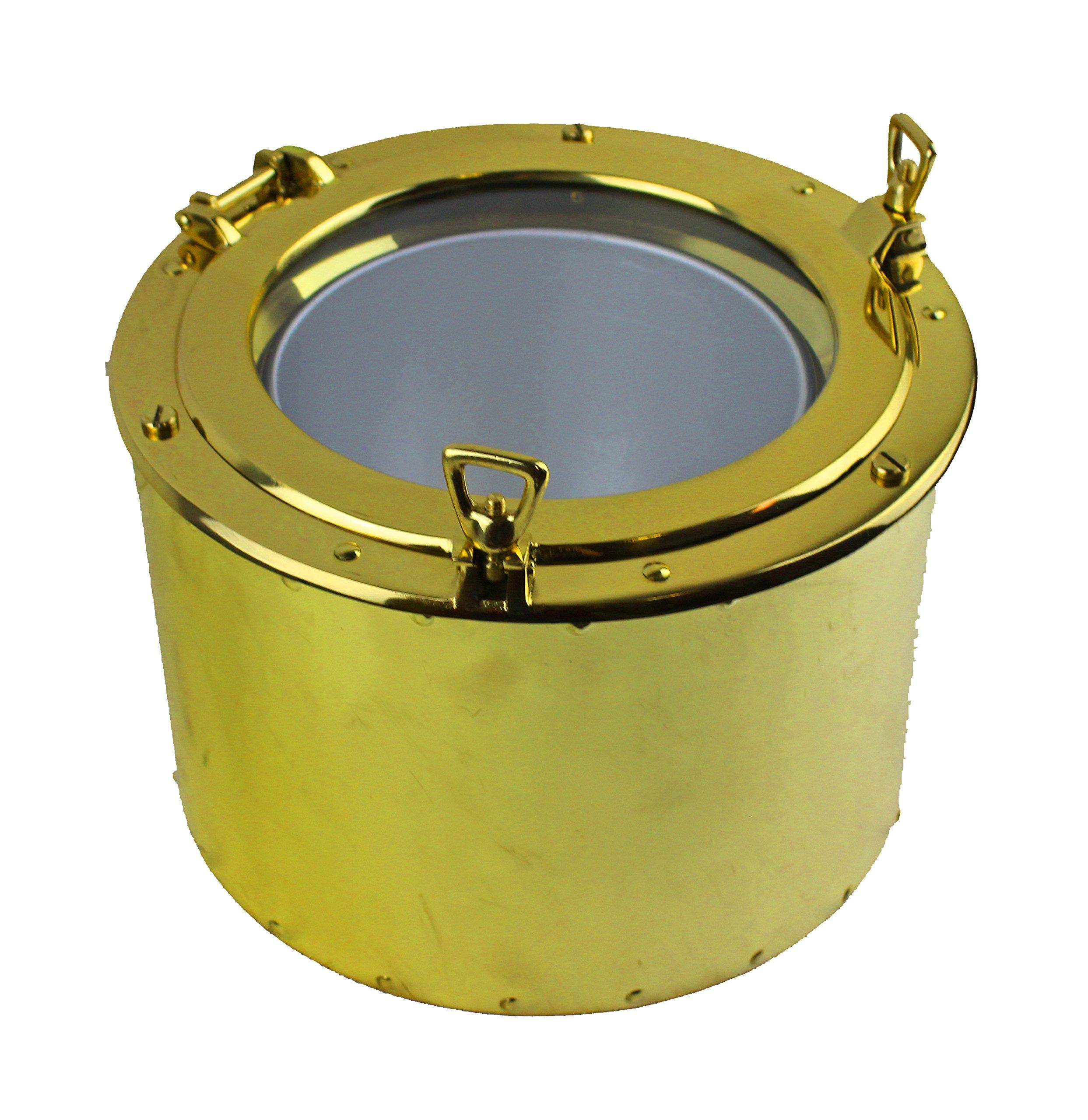 11.5''Dia Solid Brass Porthole Ice Bucket