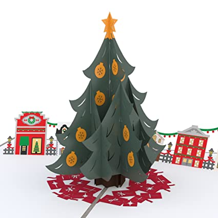 lovepop christmas tree village pop up christmas card 3d card holiday card