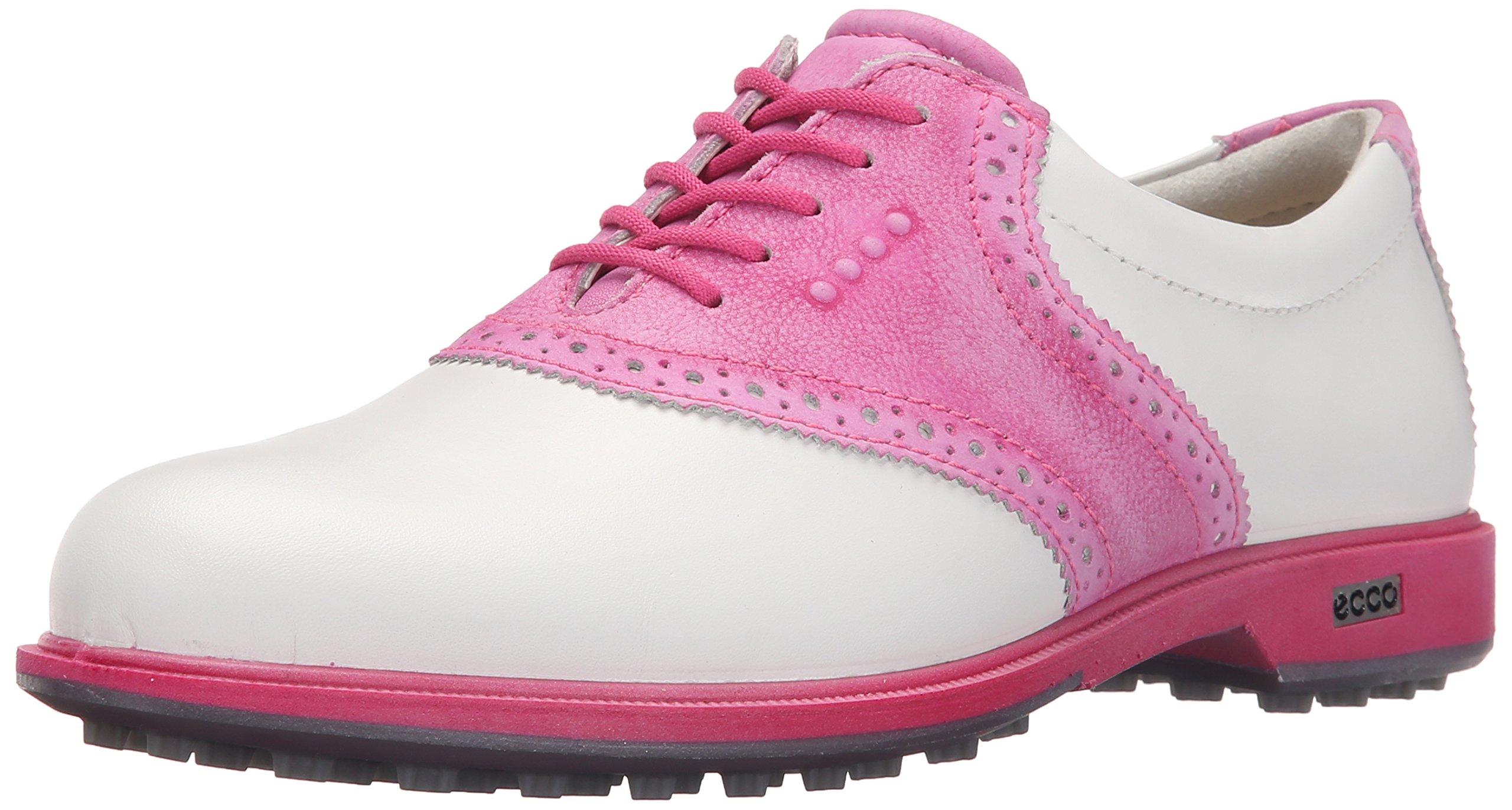 ECCO Women's Classic Hybrid II Golf Shoe, White/Candy, 40 EU/9-9.5 M US