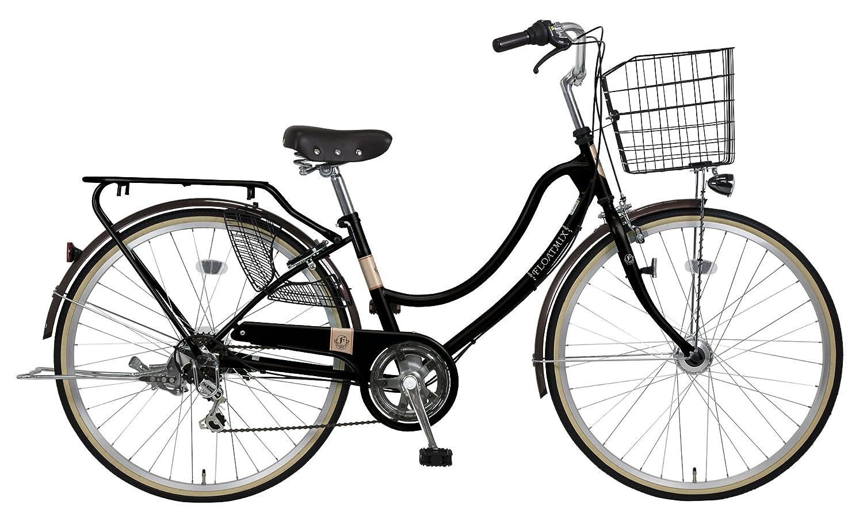 完全組立 27インチ自転車 LEDオートライト シマノ製外装6段ギア B078HH45DH マットブラック マットブラック