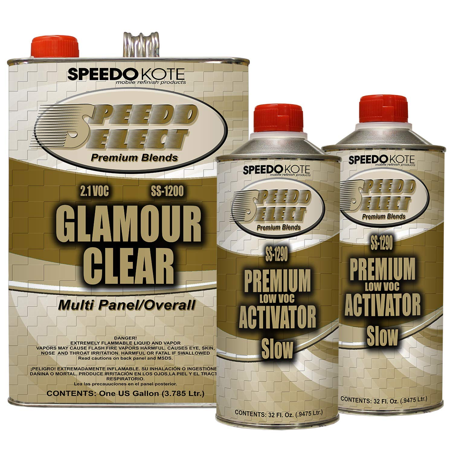 Speedokote SS-1200/90 - Ultra High Gloss with Superior DOI 2.1 voc Clear Coat, 2:1 Mix 6 quarts Slow Speed clearcoat Kit