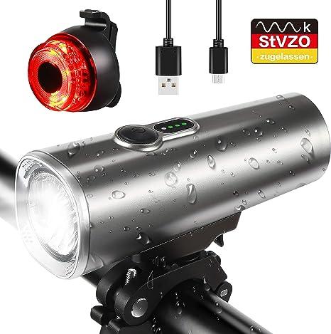 Luz de Bicicleta, Luz Bicicleta Recargable USB, IPX5 Impermeable ...