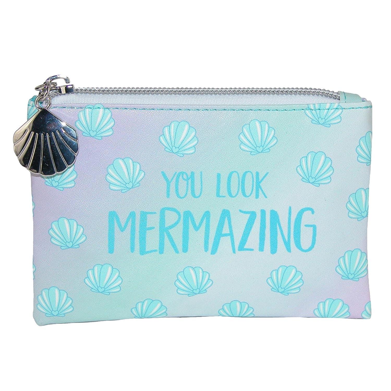 Sass & Belle Mermaid Treasures Coin Purse Wallet Blue