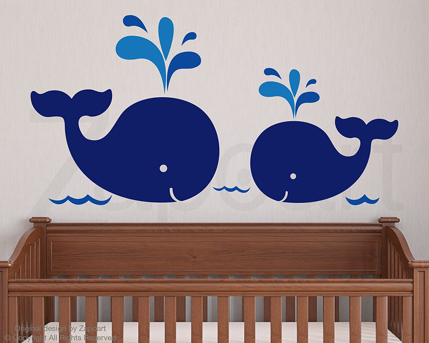 Mom baby whales vinyl decal wall decor stickers amazon amipublicfo Gallery