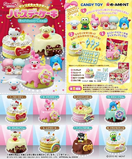 Awesome Amazon Com Re Ment Sanrio Character Birthday Cake Full Set Box Personalised Birthday Cards Veneteletsinfo