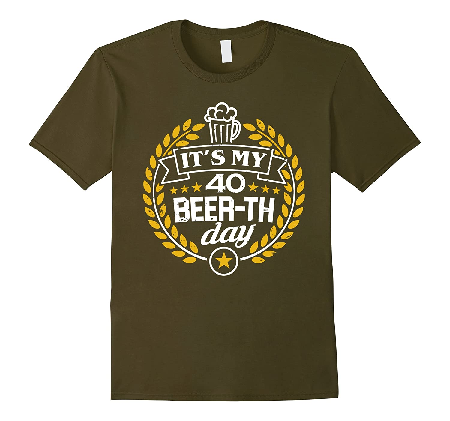 40th Birthday Gift Beer Shirt It's My 40 Beer-th Day T-Shirt-TH