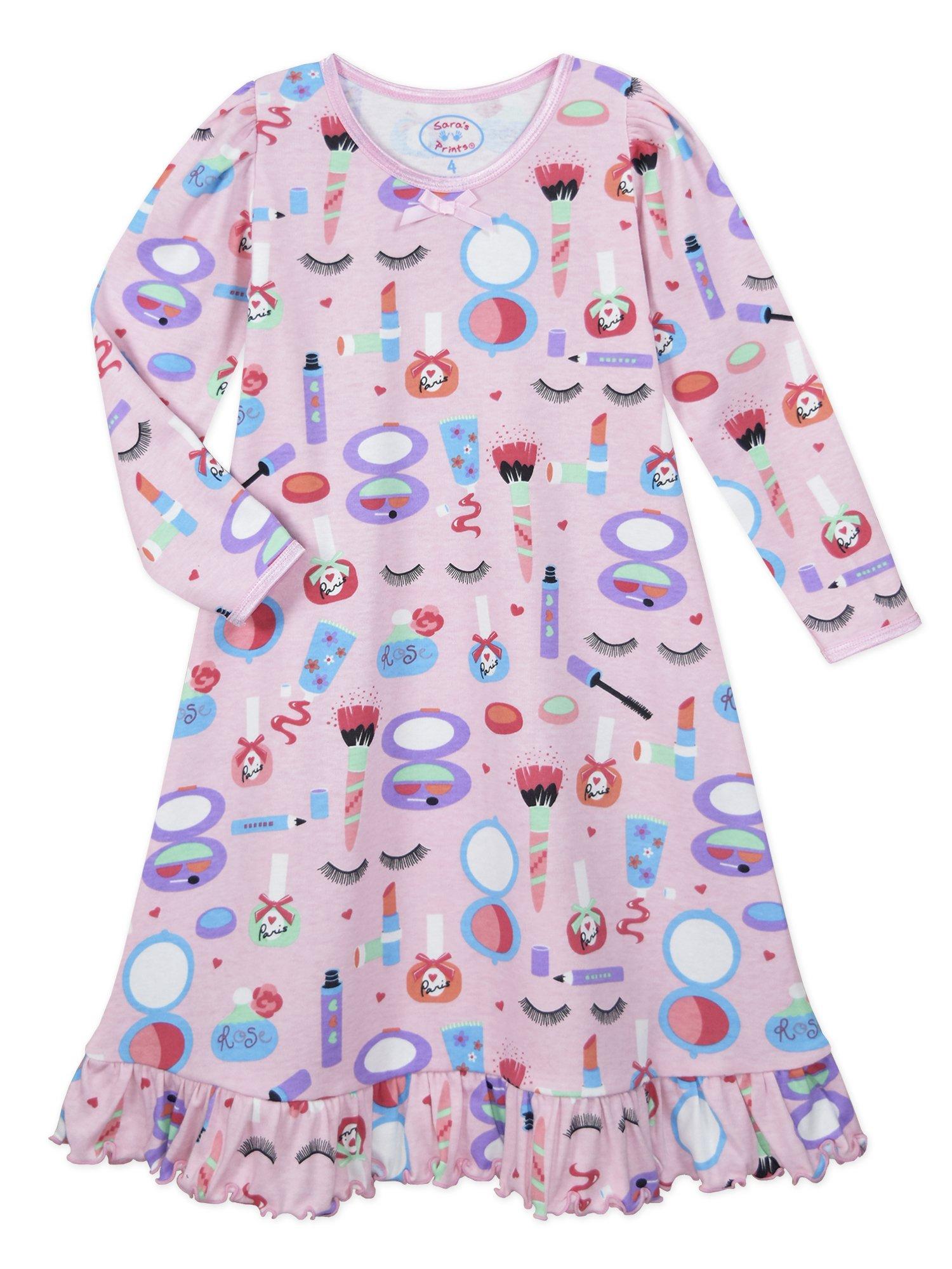 fe0c1cb091 Galleon - Sara s Prints Big Girls  Whirl And Twirl Long Sleeve Nightgown