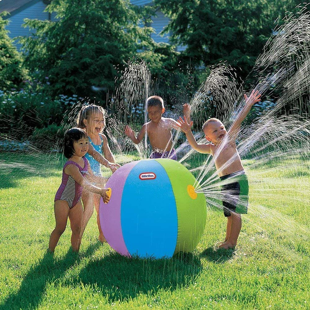 POKONBOY Ultimate Beach Ball Sprinkler Outdoor Colorful Water Spray Ball Outdoor Swimming Pool Beach Use