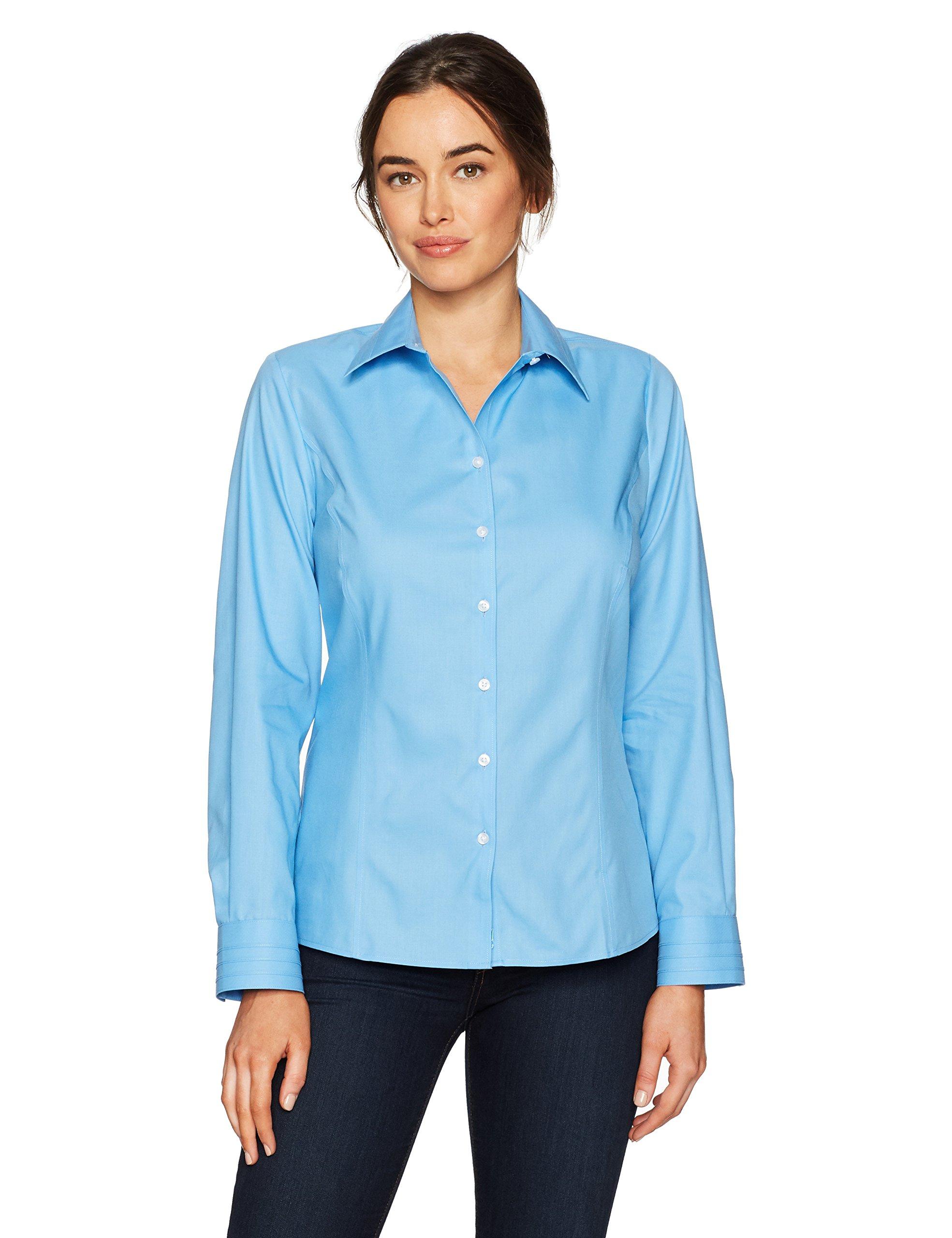 Cutter & Buck Women's Epic Easy Care Long Sleeve Fine Twill Collared Shirt, Atlas, XL