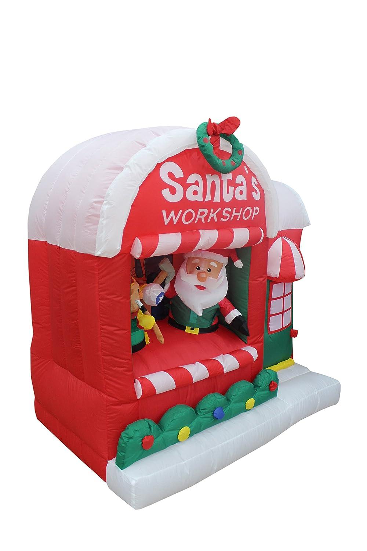 Amazon.com: 5 Foot Christmas Inflatable Santa Claus Workshop Yard Decoration:  Home U0026 Kitchen